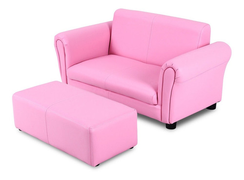 sillon sillonsito sofa con descansa  pies silla para niños recamara costw rosa r