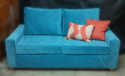 sillon sofa 2 cuerpo tapizado en tela o ecocuero  fabrica!!!