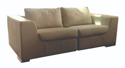 sillon, sofa 2 cuerpos  6021 cuero outlet - dormire