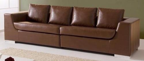 sillon, sofa 2 cuerpos chocolate 6021 cuero outlet - dormire