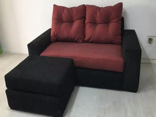 sillon, sofa 3 cuerpos pasión c/puff en cuotas
