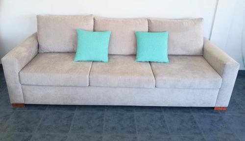 sillon sofa 3/4 cuerpos 2,5 mts tala/chenille habitat deco