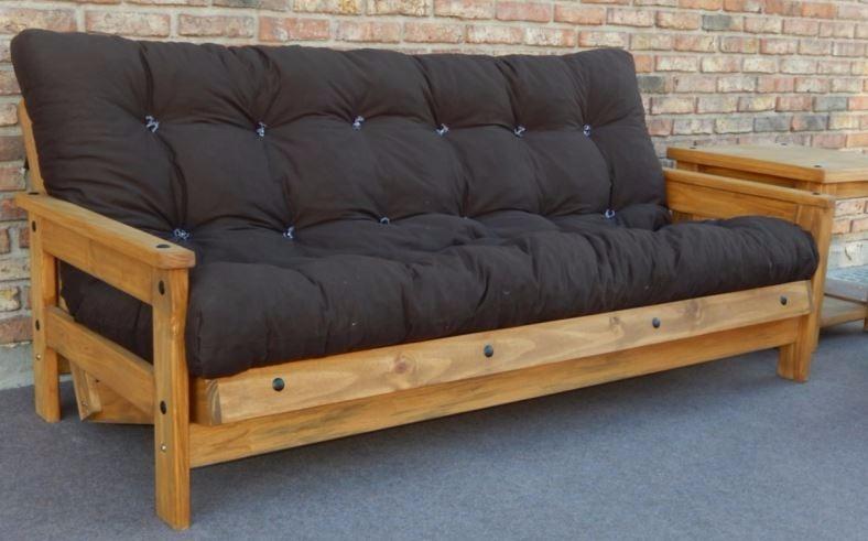 sill n sofa cama futon campestre madera maciza rustico ch