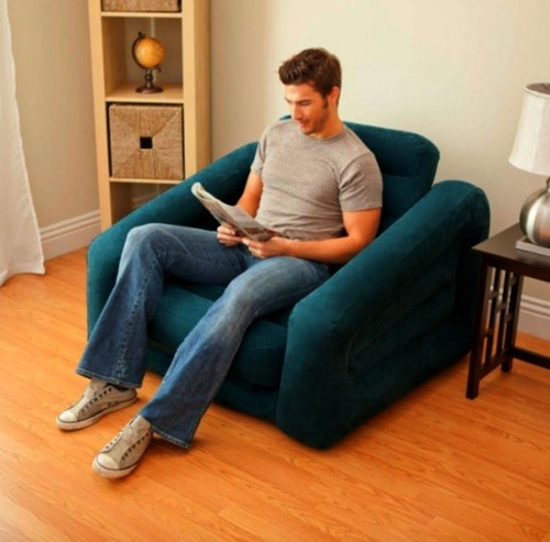 Sill n sof cama individual colch n inflable envio gratis for Mercado libre sofa camas nuevos