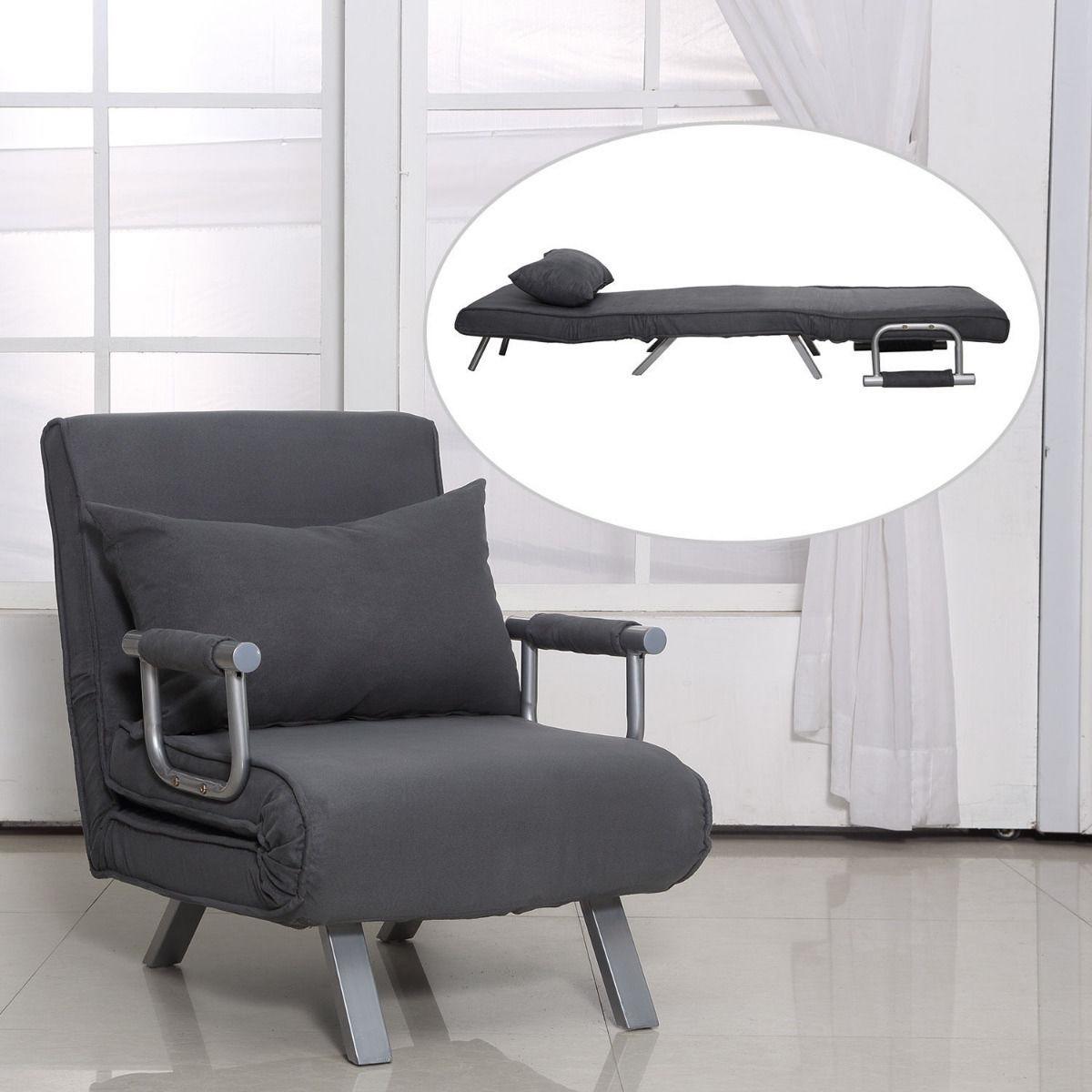 Sillon sofa cama individual lounge 3 posiciones a meses si for Sofa cama individual plegable mexico