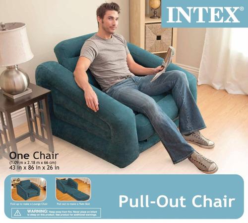 sillon sofa cama inflable individual + envío gratis