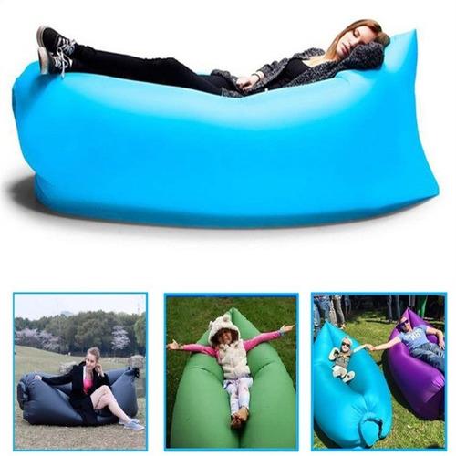 sillon sofa cama inflable tumbona portátil