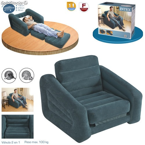 Sillon sofa cama intex 1 plaza s 145 00 en mercado libre - Sillon cama 1 plaza ikea ...