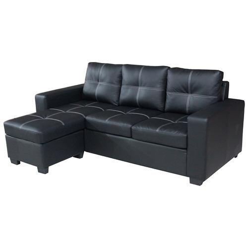 sillón sofá empoli 3 cuerpos con chaise costura doble en loi