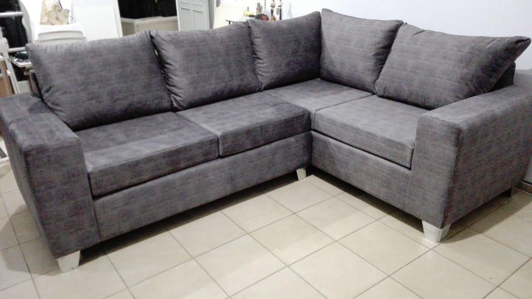 Sillón Sofa En L Esquinero Alta Gamma Telas Antimanchas Cargando Zoom