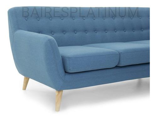 sillon sofá escandinavo 3 cuerpos vintage nordico cuotas s/i