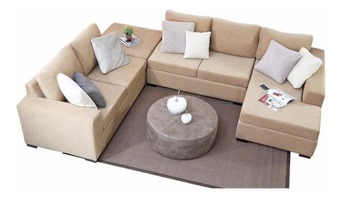 sillon sofa esquinero versatil premium chenille fullconfort