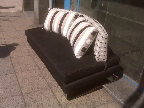 sillón sofá kalia 2 mts talampaya chenille habitat deco