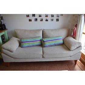 Sillón Sofa Living 2 Cuerpos Dakar Tapizado Jaquard