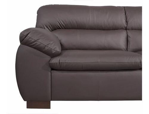 sillon, sofa, living 3 cuerpos auro en cuero - dormire