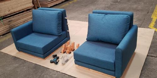 sillon sofa modular nordico en caja facil armado kromo-s