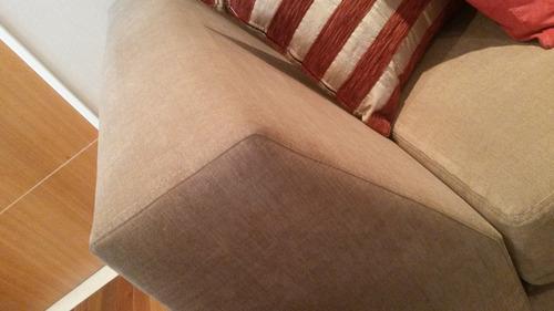 sillon sofa new 2 cuerpos 180 eco patas crom