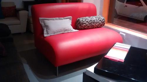 sillon sofa paris 2 cuerpos 120 eco patas crom