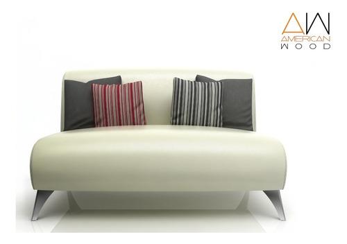 sillon sofa paris 2 cuerpos 140 eco patas crom