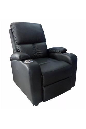 sillon sofá reclinable de cuero, elegante