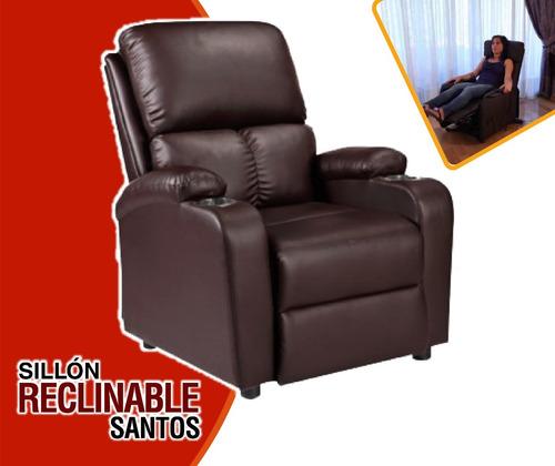 sillón sofa reclinable santos de cuero incluido iva