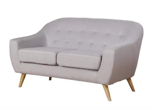 sillon sofa retro vintage escandinavo modelo frank 2 cuerpos