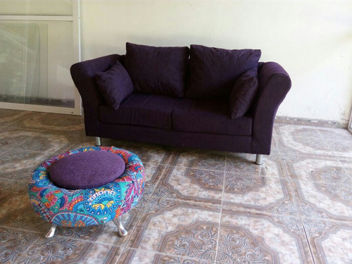 sillon sofa  trento 2 cuerpos chenille