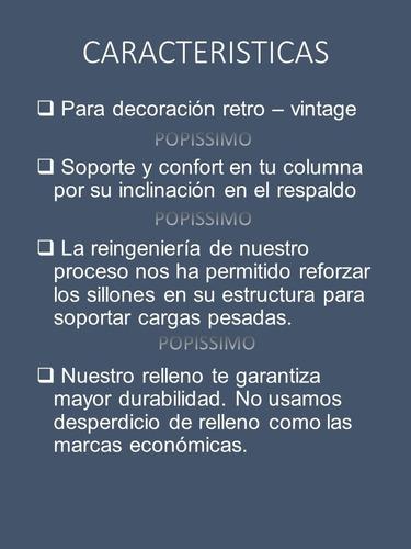 sillon tapizado vintage retro basic uva + gratis envio