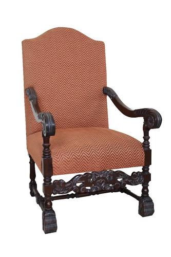 sillon tipo trono estilo antiguo, oferta de el buen fin
