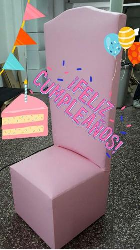 sillon trono cuerina cumpleaños niños