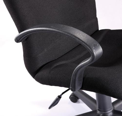 sillon valentina respaldo alto tapizado en tela color negro