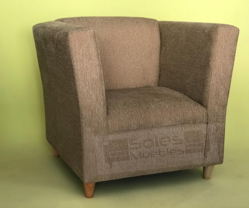 sillón vintage individual un cuerpo tapizado moderno