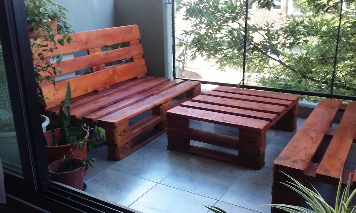 Sill N Y Mesa De Pallets Juego De Jard N Palet 2 490 00 En  # Muebles Rafaela San Clemente