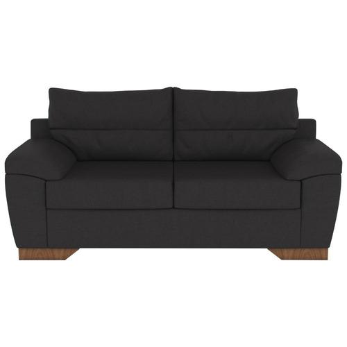 sillón zena negro de 2 cuerpos