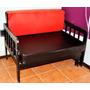 Sillón Dos Cuerpos Rojo Y Negro Extensible (105x70x58)
