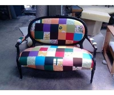 sillones berger con tachas en tela o eco cuero