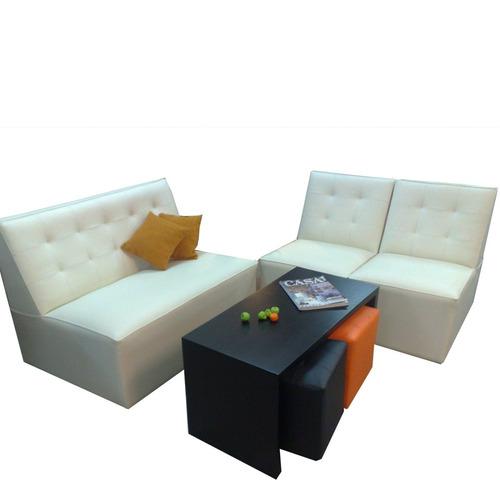 sillones capitoneados rectos ideal para espacios