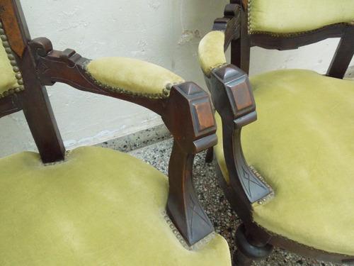 sillones coloniales ingleses comedor poltrona living sala ex