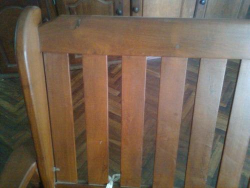 sillones de algarrobo con almohadones y con 3 posiciones