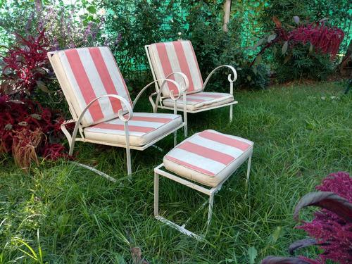 sillones de jardin de hierro