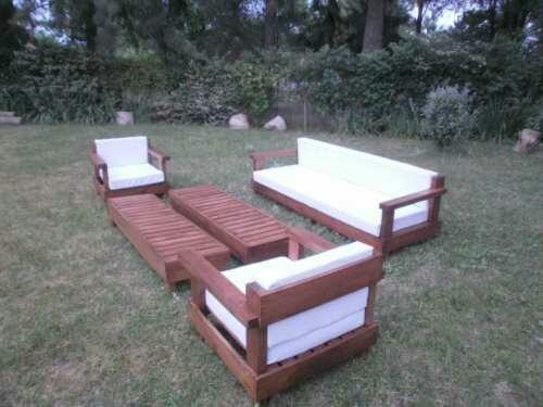Sillones de jardin linea eco con almohadones for Sillones de jardin