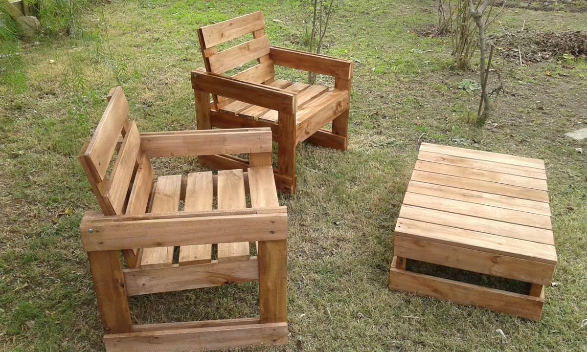Sillones de madera maciza en mercado libre for Sillones de jardin de madera