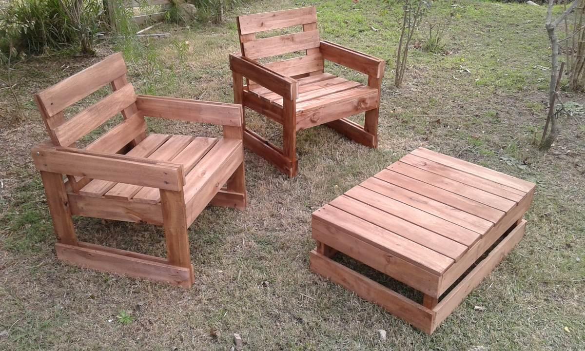 Sillones de madera maciza en mercado libre for Sillones de plastico para terrazas