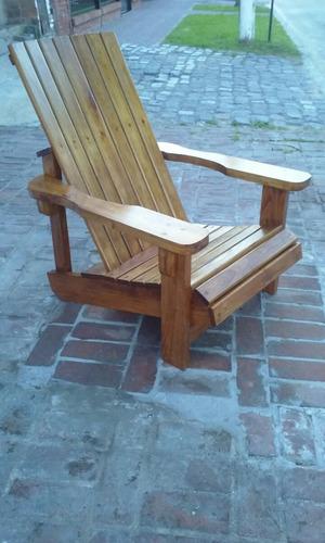 sillones de madera para jardin