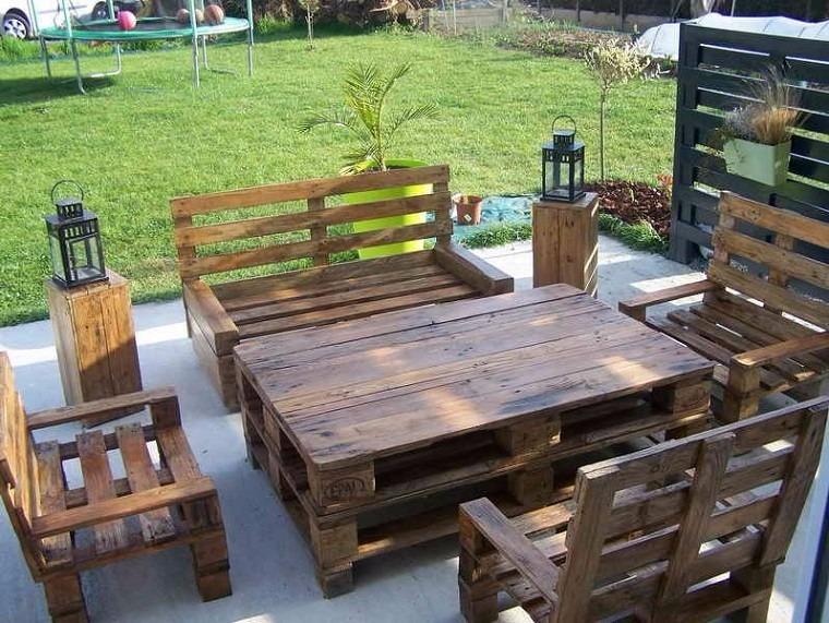 Sillones de palet esquineros r sticos madera for Sillones rusticos de madera