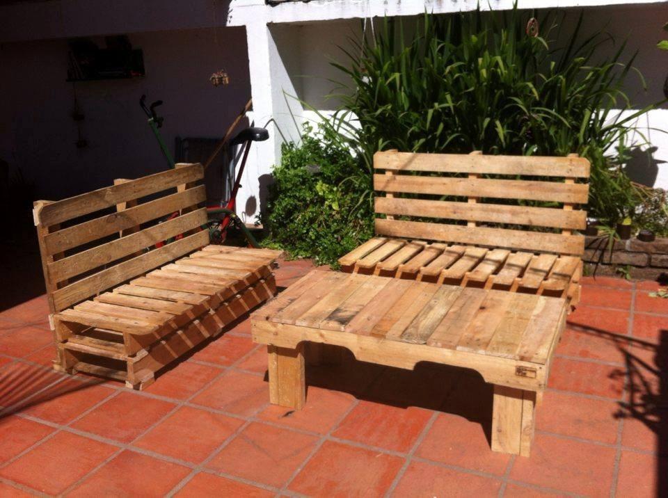 Sillones en madera de pallets tratados para casa jard n for Sillones jardin ikea