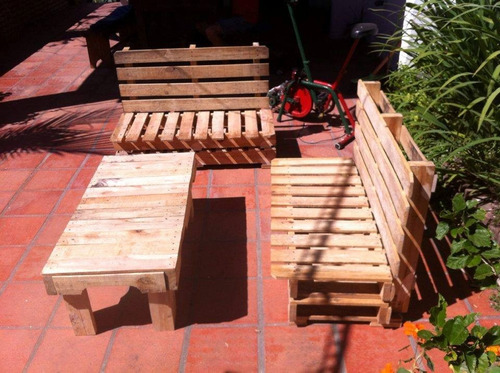 sillones en madera de pallets tratados para casa jard n