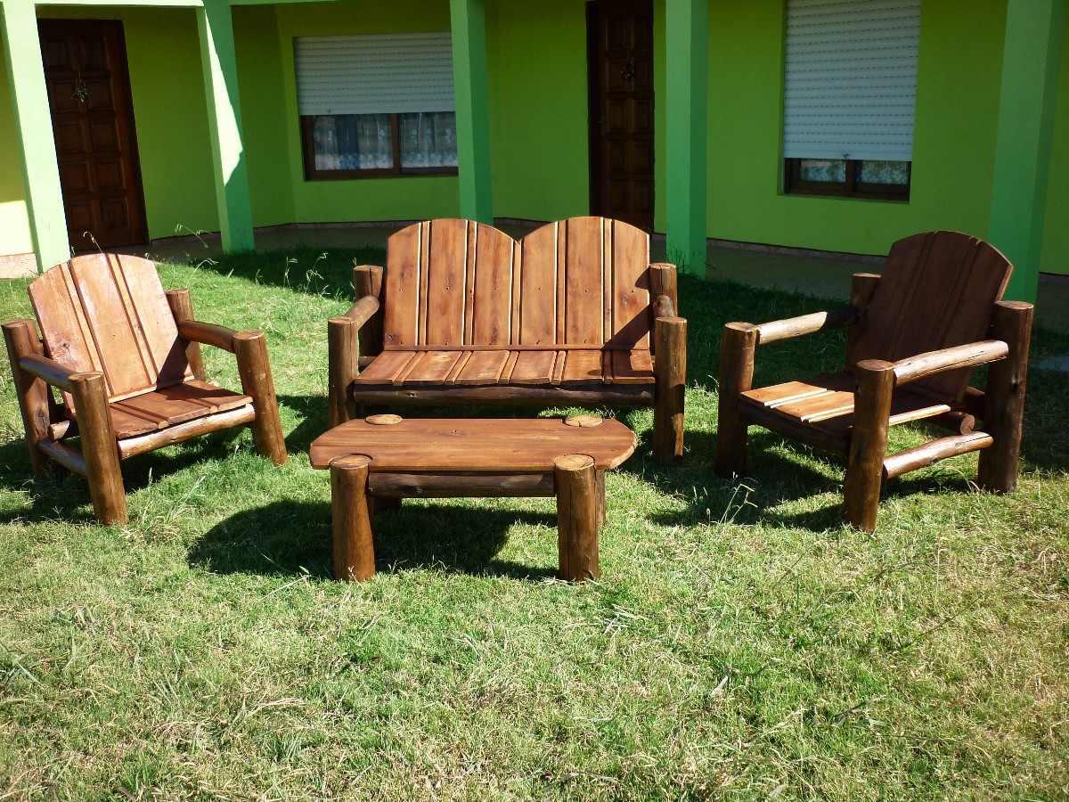 sillones madera tratada para exterior en
