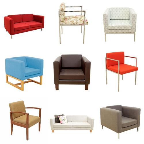 sillones modernos tapizados patas cromadas forbidan muebles
