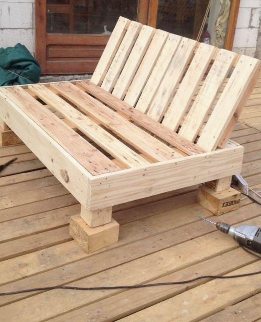 Sillones palets pallet 990 00 en mercado libre for Sillones para jardin hechos con palets